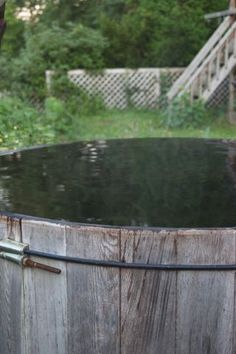 I love my wood-fired hot tub.