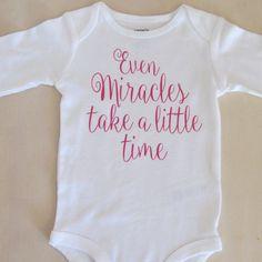 IVF, Infertility Bodysuit, Miracle Baby, Prayed Big, by VivianneRoses