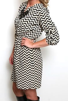 512031d7470d Smile for the Chevron Dress Chevron Dress