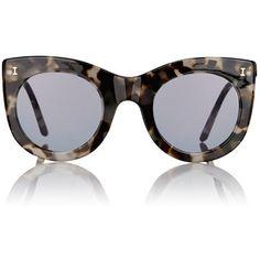 Illesteva Boca Sunglasses ($220) ❤ liked on Polyvore featuring accessories, eyewear, sunglasses, multi, round sunglasses, cat eye sunglasses, tortoise shell cat eye sunglasses, illesteva sunglasses and mirror lens sunglasses