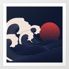 Japanese Sunset - #Abstract #Sunset in the #Pacific #Ocean