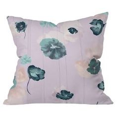 DENY Designs Mademoiselle In Lavender Throw Pillow