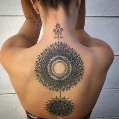 Ornamental back piece by Alex Bawn