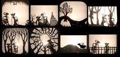 Wayang kulit.  Indonesian shadow puppet theatre.