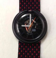 Vintage 1988 POP SWATCH City Watch Black See-Through Face w/ Red Dot Band RETRO   Jewelry & Watches, Watches, Parts & Accessories, Wristwatches   eBay!
