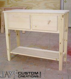 Pine Pocket Hole Sofa Table – Jays Custom Creations