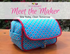 Meet the Maker Sew Today Clean Tomorrow - Andrie Designs Paper and PDF bag patterns Handmade bag Bag Patterns, Handmade Bags, Two By Two, Lunch Box, Pdf, Meet, Cleaning, Sewing, My Love