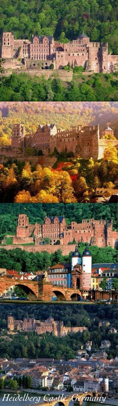 Heidelberg Castle (in German: Heidelberger Schloss) is a famous ruin in Germany and landmark of Heidelberg. The castle ruins are among the most important Renaissance structures north of the Alps. The castle has only been partially rebuilt since its demolition in the 17th and 18th centuries. It is located 80 metres (260 ft) up the northern part of the Königstuhl hillside,