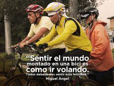 Miguel Ángel tuvo la locura bondadosa de construir bicicletas para personas no videntes. Contagia tu locura visitando CokeURL.com/contagiatulocuraec