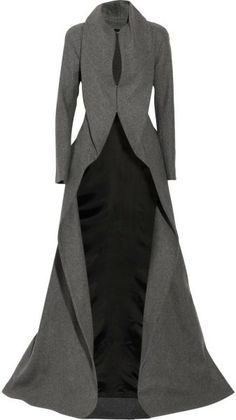 ALEXANDER MCQUEEN - Gray Wool and Cashmere-blend Coat