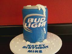 Bud Light cake, minus happy bday