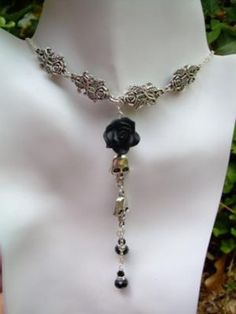 Biker Chic Collection Rose's N' Skulls Necklace…the beginning of Guts N' Gumption