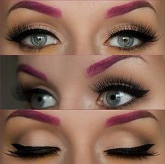 Love the Pink Ombre Eyebrows Full Eyebrows, Kiss Makeup, Beauty Makeup, Hair Makeup, Hair Beauty, Eyebrow Before And After, Stunning Makeup, Makeup Forever, Beauty