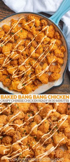 Baked Bang Bang Chicken is a crispy chicken Chinese restaurant favorite served i. Baked Bang Bang Chicken is a crispy chicken Chinese restaurant favorite served in a delicious spicy homemade sauce, ready in 30 minutes. ideas for two Bang Bang Chicken, Gluten Free Recipes For Dinner, Simple Dinner Recipes, Best Dinner Recipes Ever, Baked Dinner Recipes, Healthy Dinner Recipes, Cheap Recipe For Dinner, Sausage Recipes, Dinner Recipes For Two On A Budget