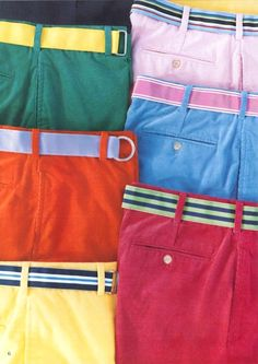 I need a fresh color range of Trousers and Shorts for the coming summer. A few colors with some casual belts is key to look as comfortable as you feel. Prep Style, My Style, Colored Pants Outfits, Golf Attire, Golf Outfit, Men's Fashion, Preppy Fashion, Fashion Showroom, Preppy Boys