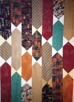 All Tied Up bow-tie quilt pattern from Quilty magazine - the top comes together quickly!