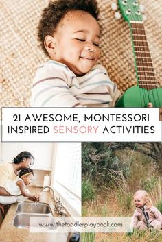 Little ones learn primarily through sensory exploration and hands-on play. Looking for some fun sensory activity ideas for your toddler? Check out these simple, Montessori inspired sensory activities (aka sensorial activities). From playing musical instruments and engaging in practical life activities to exploring discovery baskets and baking, opportunities for sensory play are everywhere! #montessori #montessoritoddler #montessoriathome #letthembelittle #toddler #kidsactivities #kids… Sensory Activities Toddlers, Nature Activities, Montessori Activities, Parenting Toddlers, Fun Activities For Kids, Motor Activities, Sensory Play, Infant Activities, Activity Ideas