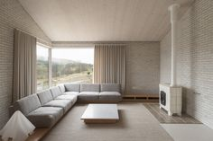 Part of the peaceful Life House in Llanbister, Wales, designed by architect John Pawson.