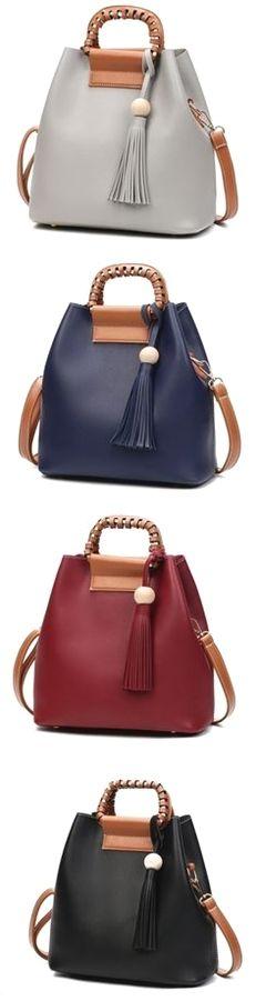 209ea14e6f2a Leather PU Handbag Bucket Bag Shoulder Bags Tote Bags Crossbody Bags For  Women