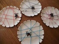 bottle top spider craft - great spider web idea and then copy and print spider poem for the back