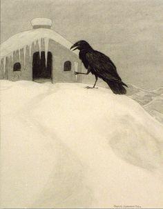 Animalarium: Charles Livingston Bull, Old Crow and his Friends, 1918, thanks to Aqua-Velvet