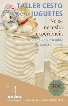 Bulbo: Talleres noviembre Hamper, Home Decor, Sewing Lessons, November, Tents, Hampers, Decoration Home, Room Decor, Home Interior Design