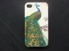 Beautiful Peacock decoupage case for iPhone4/4s /Cover case / Hard Case / Accessories / smartphone on Etsy, ฿454.55