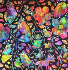 """""""Magic in the Park"""" by Michele Cleaver. Paintings for Sale. Magical Paintings, Paintings For Sale, Buy Art Online, Australian Artists, Large Painting, Nature Animals, Online Art Gallery, Journaling, Park"""