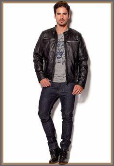 Men's Celebrity Genuine Lambskin Mens Stylish Rider Jacket slim fit Biker A23 #AriesLeathers #Motorcycle