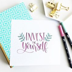 Invest in yourself | Handlettering by @akammarada