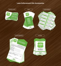 printable kid business Lawn Enforcement by KidEntrepreneur on Etsy, $24.95