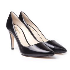 Beyond Skin Lexie classic vintage high heel stiletto style vegan court shoe pump with pointed toe made from black Italian non leather synthetic 100% Vegan, vegetarian and cruelty-free.