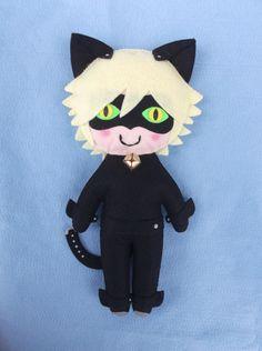 pelúcia cat noir - miraculous -  encomendas pela minha página no facebook - https://www.facebook.com/Boutiquegeekbg/