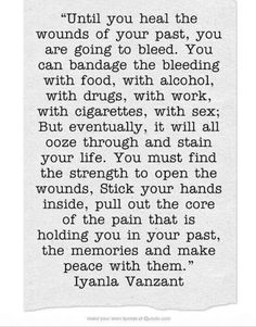 Stick your hands inside, pull out the core of that pain....and make peace with it ❤️