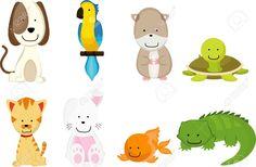 9189408-A-vector-illustration-of-pets-cartoon-Stock-Vector-animals.jpg (1300×853)