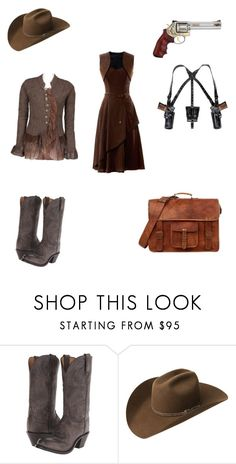 """""""Cowgirl"""" by thelittlefanthatcould ❤ liked on Polyvore featuring Lucchese and Bailey Western"""