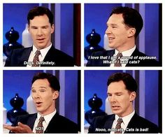 Benedict Cumberbatch being adorable. as usual.