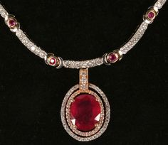 Beautiful diamond and ruby necklace