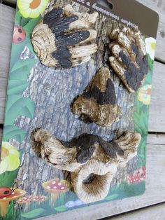 MAGNESIA TREE FACE EYES NOSE MOUTH SEE NO EVIL OUTDOOR YARD DECOR GARDEN 1 only