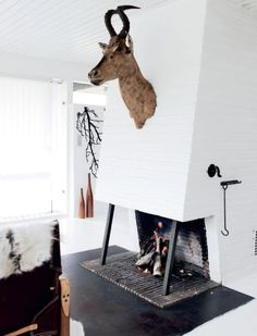 #fireplace #white