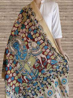Buy Krishna Kalamkari Cotton Dupatta