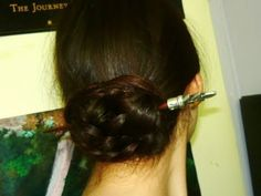 2 minute hairstyle: Chinese bun. Super cute. Kinda need mid length to long hair tho.
