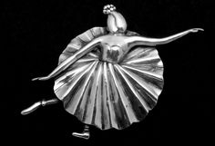 Vintage Margot de Taxco Mexican Sterling Silver Large Ballerina Dance Pin 20568 by DisorderlyGirl on Etsy https://www.etsy.com/listing/225686228/vintage-margot-de-taxco-mexican-sterling