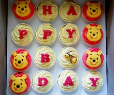 Winnie the Pooh cupcakes /via bakebakebake (600×500)