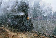 Зима, поезда