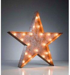 Lámpara estrella vintage bombillas