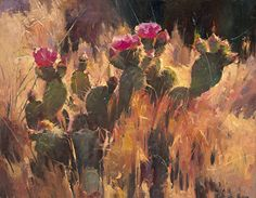 The Jabberwocky Cactus Came Whiffling Through The Tallgey Grass by Dilleen Marsh Oil ~ 11 inches x 14 inches. July 2014 Favorite 15% in Bold Brush online art contest http://faso.com/boldbrush/fav15/142