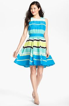 Vince Camuto Variegated Stripe Dress | Nordstrom Inspiration officially from the world of Vince Camuto #VinceCamuto.com