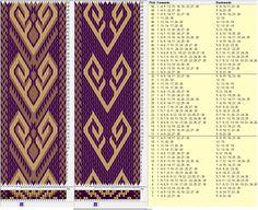 30 tarjetas, 3 colores, 2 modelos, repite cada 16 movimientos // sed_274 diseñado en GTT༺❁