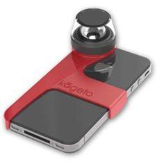 Kogeto Dot 360Deg. iCONIC Camera Lens, Cheery Red: Picture 1 regular